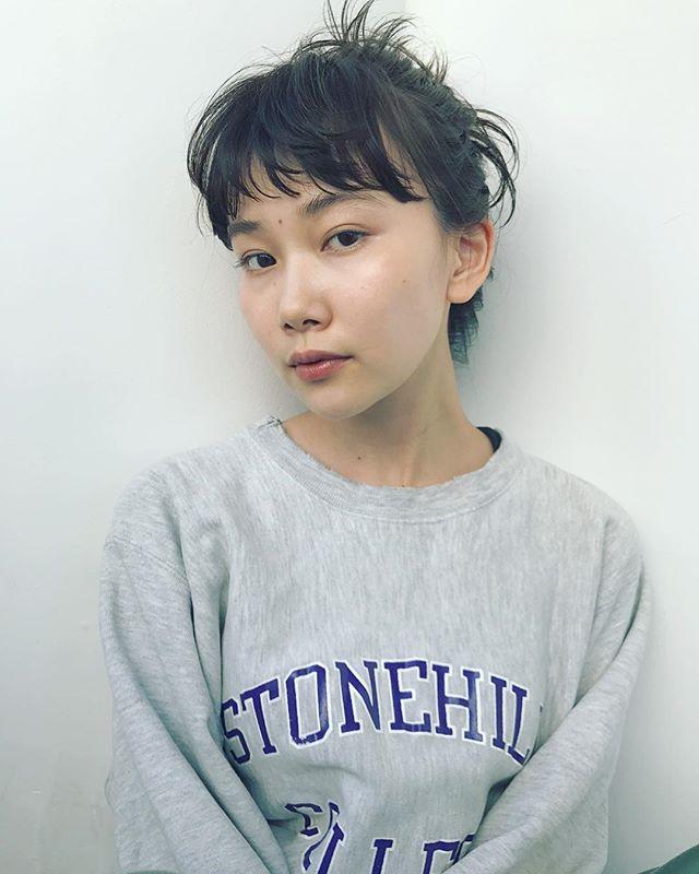 無造作高めお団子×垢抜け前髪アレンジ