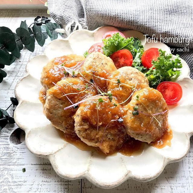 大根+豆腐でヘルシー♪豆腐ハンバーグレシピ