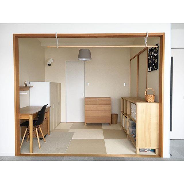 ナチュラルな家具でそろえた和室実例