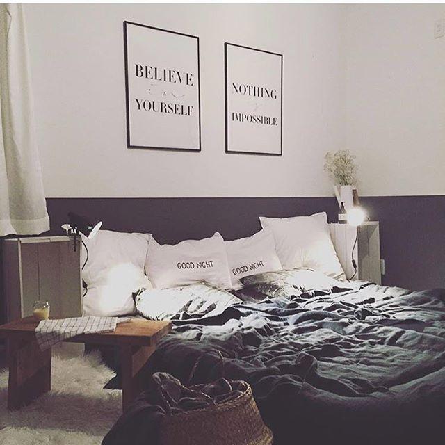 モノトーン寝室