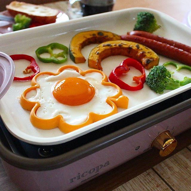 朝ご飯も!ホットプレートで子供が喜ぶ目玉焼き