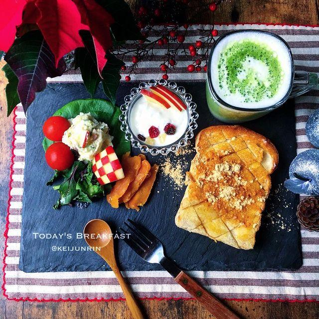朝食にも♪きなこバターハニートーストレシピ