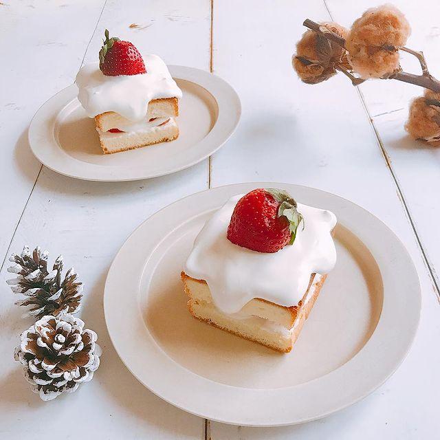 パウンド型のショートケーキ