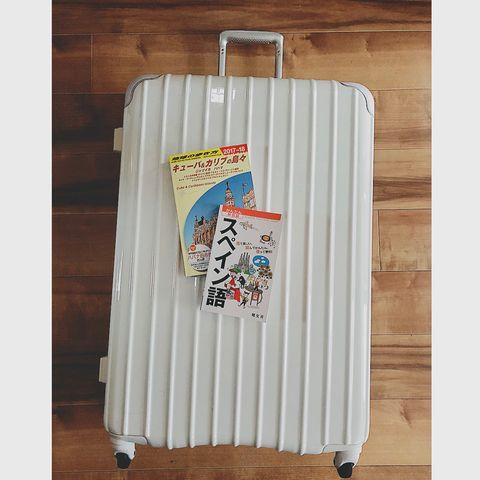 白スーツケース
