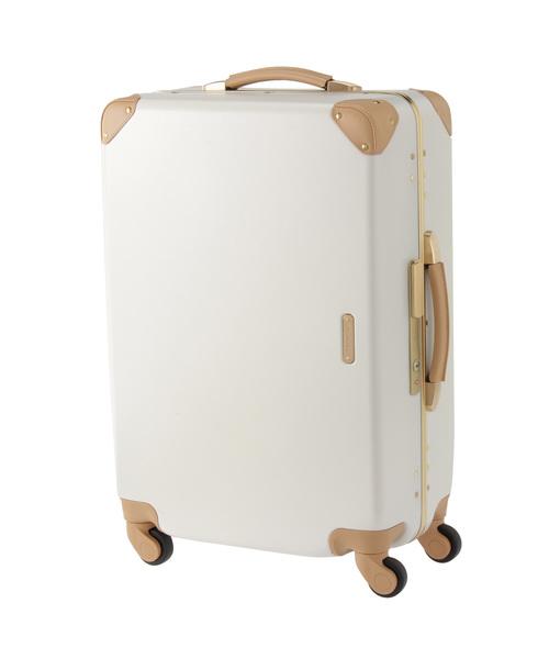 牛革アクセントスーツケース