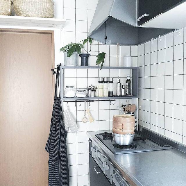 壁付けオープンキッチン