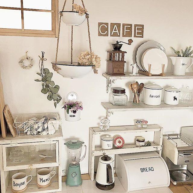 キッチンインテリアで作れるカフェ風な雰囲気
