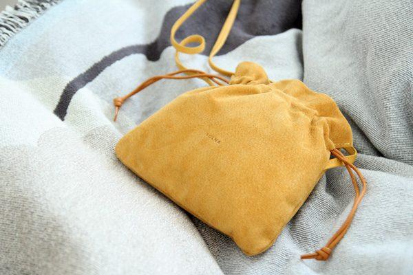 FOLNA(フォルナ)ピッグスエード巾着ショルダーミニ4