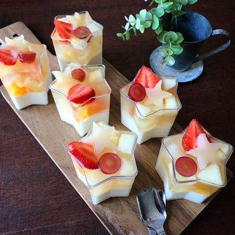 可愛い星型♡フルーツヨーグルトゼリーレシピ