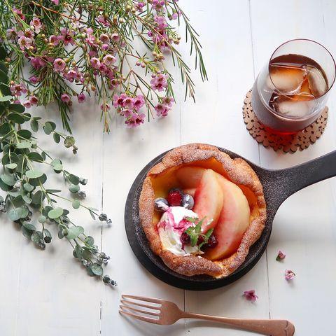 おしゃれすぎる!桃のダッチベイビーレシピ