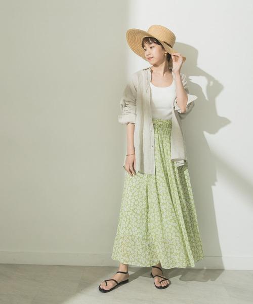 [URBAN RESEARCH] シフォン花柄プリントスカート
