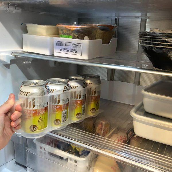 ビールが入る缶ストッカー