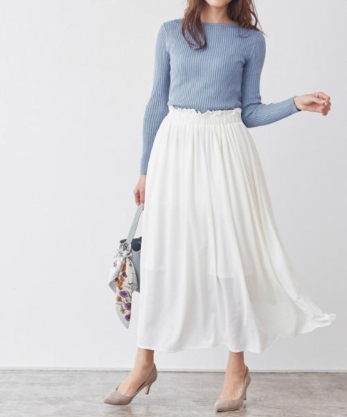 フリルギャザーロングスカート