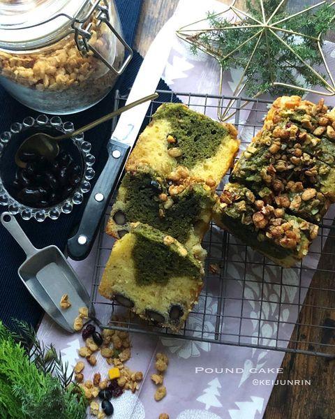 和×洋!きな粉と抹茶のパウンドケーキレシピ