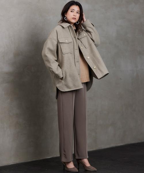 中綿 オーバーサイズ ビッグポケット ウラキルティング CPOジャケットコート