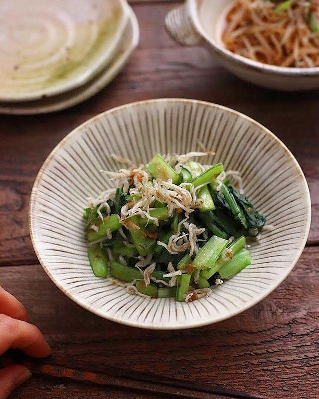 栄養抜群♪小松菜のかつおじゃこ和えレシピ