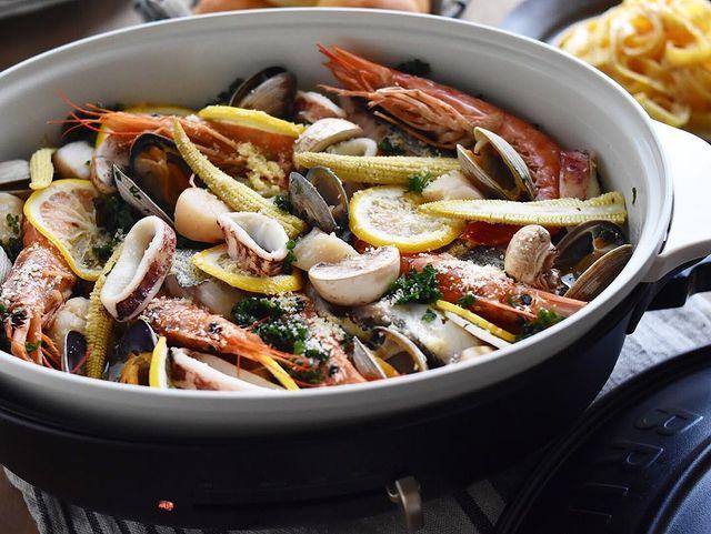 簡単レシピ!フレッシュパセリと魚介のオイル蒸し