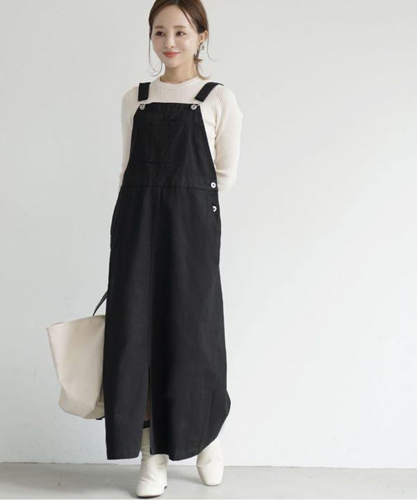 【coca】チノサロペットスカート