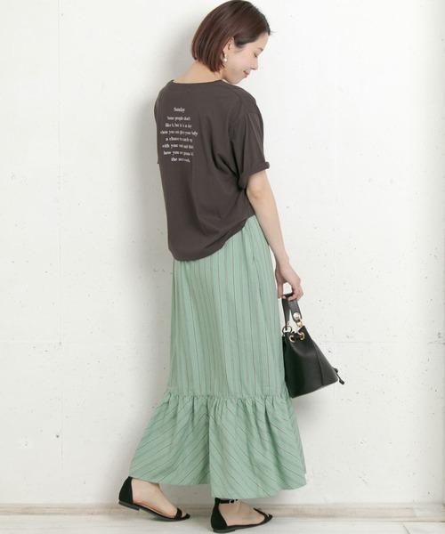 [URBAN RESEARCH Sonny Label] 【WEB限定】バックプリントルーズTシャツ