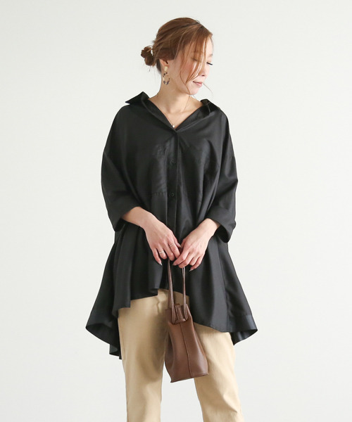 【SUGAR BISKET】フレアデザインシャツ