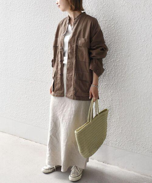 [SHIPS for women] 【SHIPS別注】ROTHCO:ツイルB.D.Uクルーネックシャツ◇ 2