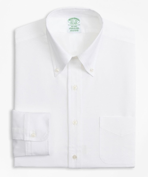 [BROOKS BROTHERS] スーピマコットン オックスフォード ポロボタンダウン ドレスシャツ New Milano Fit