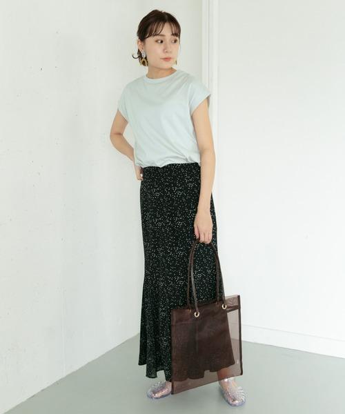 【FUDGE 5月号掲載】オーガニックコットンフレンチスリーブTシャツ