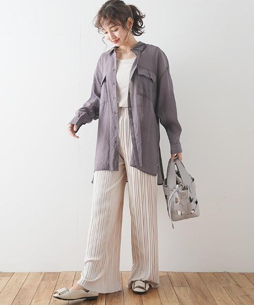 【Futierland&SASA】シアーBIGシャツ