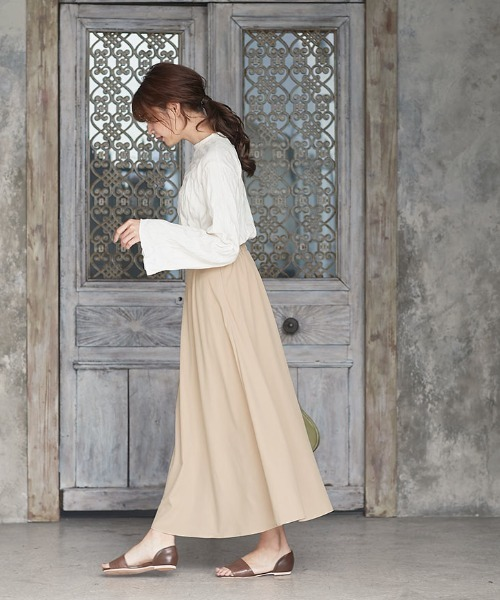 マキシ・ミモレ丈2TYPEフレアスカート