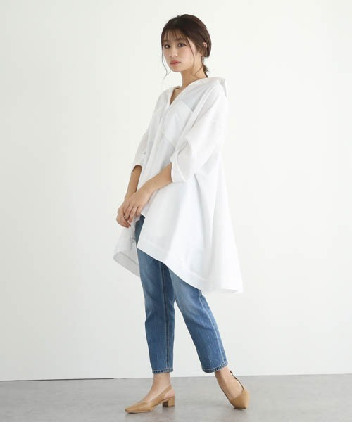 【La-gemme】フレアデザインシャツ