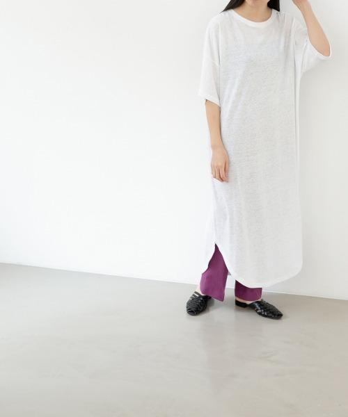 【WEB限定】スラブTシャツワンピース