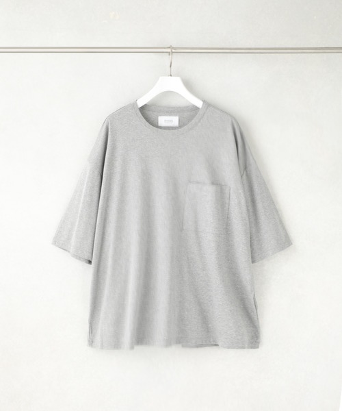 [STUDIOUS MENS] 【STUDIOUS】SPLASH CONTROL ビッグシルエットクルーネックTシャツ(汗染み防止機能素材)