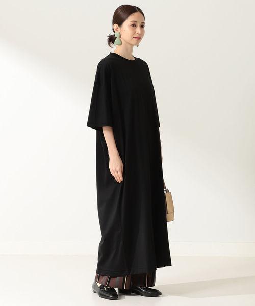 [BEAMS WOMEN] ATON / スビン オーバサイズ ドレス