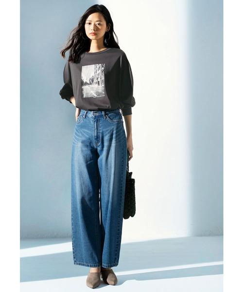 [GeeRA] 《インスタグラマーてらさん着用》フォトプリントロングTシャツ