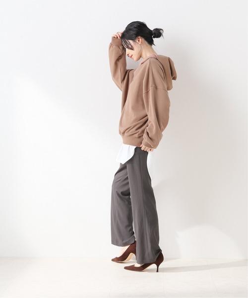 [IENA] 裏毛クロップドフーディー【手洗い可能】◆