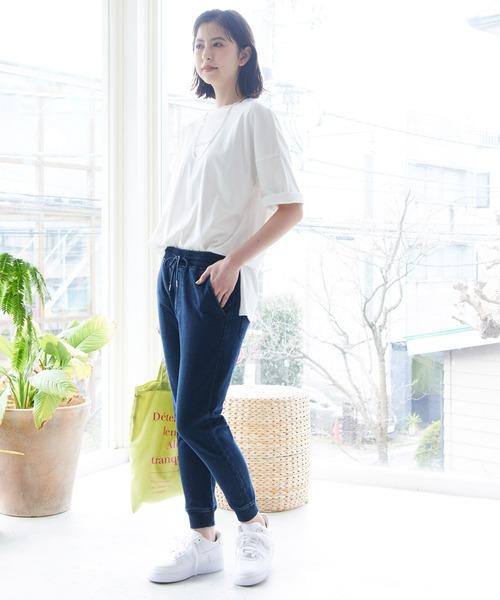 [ViS] 【Daily use】カットデニムジョガーパンツ<WEB限定>