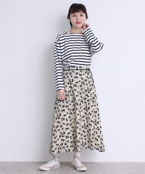 [Dot&Stripes CHILDWOMAN] Cu綿ビエラアーカイブプリントスカート