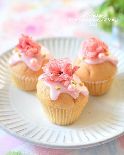 可愛いお菓子!人気のさくらマフィン