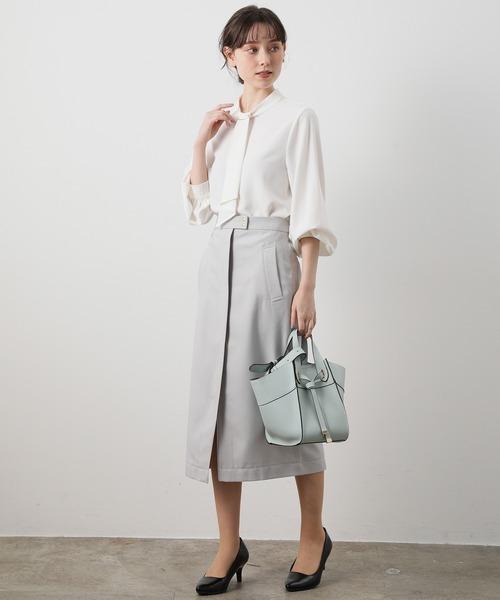 [ViS] フロントZIPタイトスカート