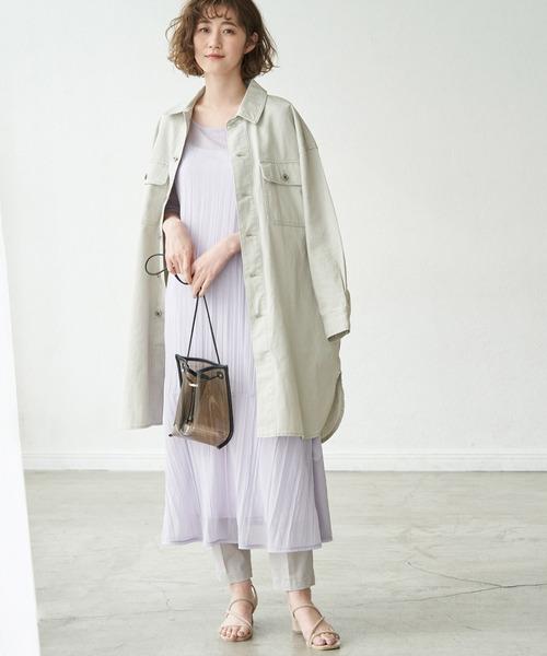 [ROPE' PICNIC] 【リンクコーデ】カラーデニムシャツジャケット