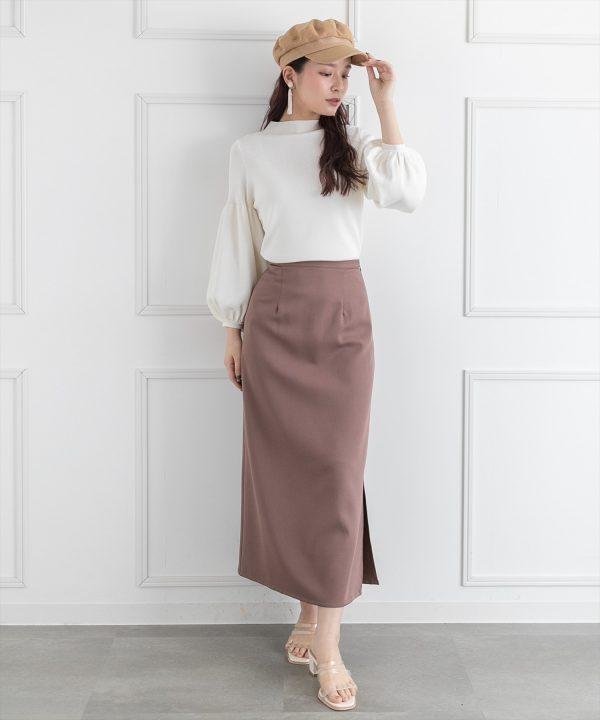【clear】サイドスリットロングスカート