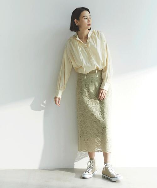 [green label relaxing] FFC ペタル レース Iライン スカート