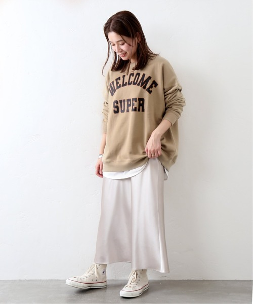 [JOURNAL STANDARD] 【Mishima Mart / ミシママート】College sweat C/N