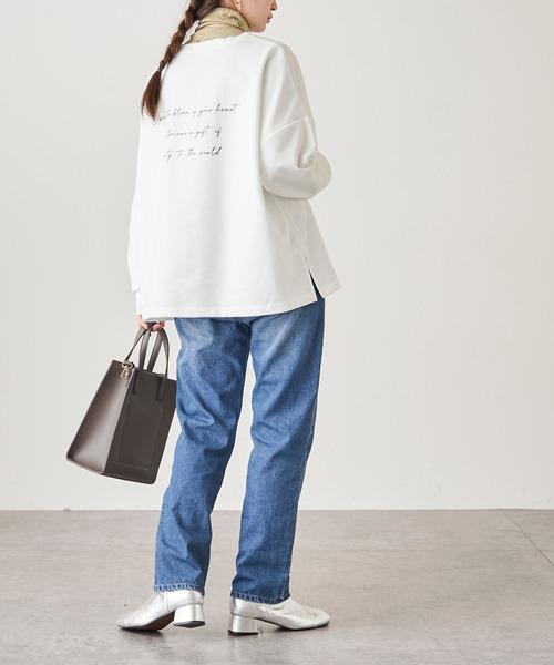 [Discoat] 【ZOZO限定】手書き風ロンT/ロングTシャツ