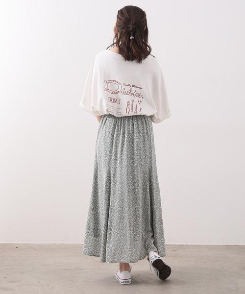 [ViS] 【別注カラー:ラベンダー】【Dickies】ロゴプリントビッグTシャツ