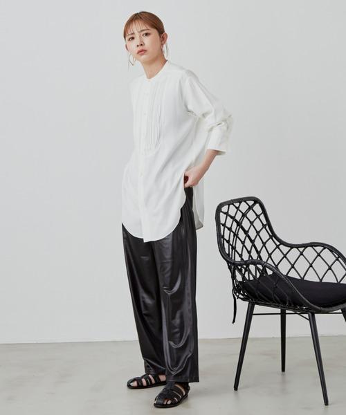 [YARD PLUS/AUNT MARIE'S] ボザムピンタックドレスシャツ