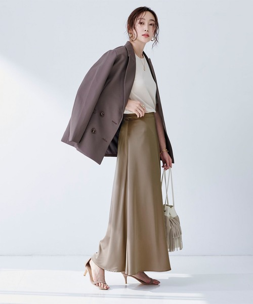 [ur's] サテンロングスカート