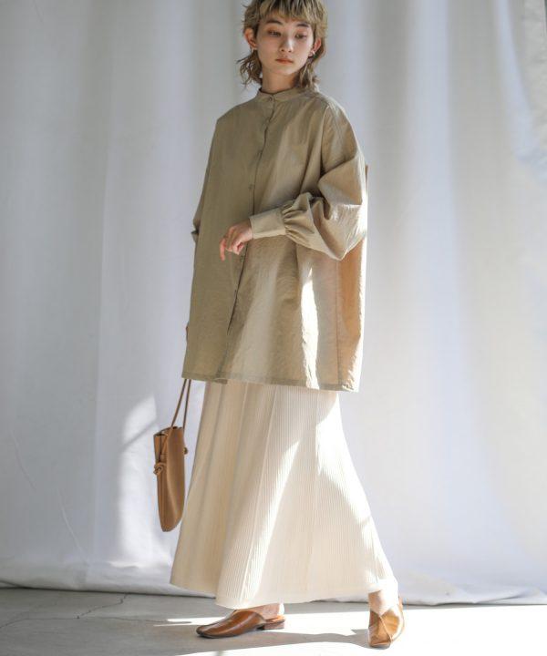 【select MOCA】プリーツロングスプリングニットスカート