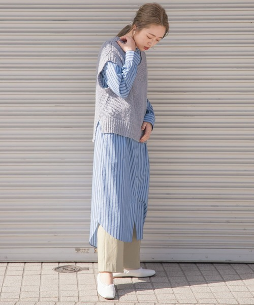 [ITEMS URBAN RESEARCH] 2WAYストライプシャツワンピース2