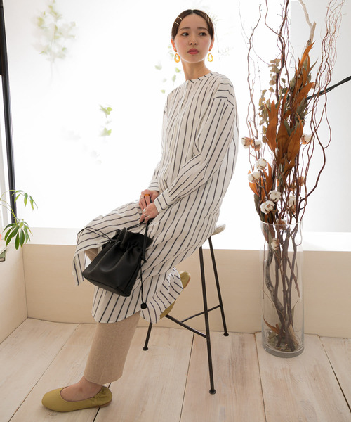 [ITEMS URBAN RESEARCH] 2WAYストライプシャツワンピース1